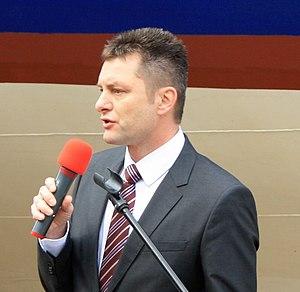 Brno, Bystrc, Miloš Havránek při spouštění Stuttgartu.jpg