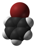 Space-filling model of bromobenzene
