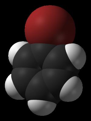 Bromobenzene - Image: Bromobenzene 3D vd W