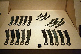 Qi (state) - Bronze knife-shaped coins of State of Qi, collected in Shandong Museum