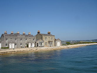 Brownsea Island - Cottages at the eastern end of the island