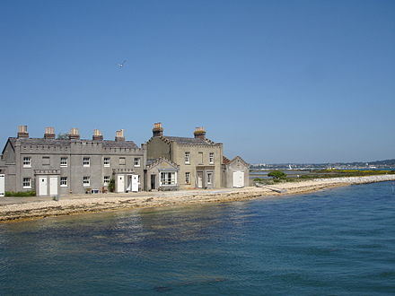 Cottages at the eastern end of the island Brownsea Island 2.jpg