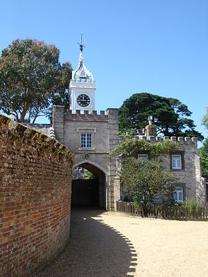 Brownsea Island - The mock Tudor entrance added in the mid-1850s by William Waugh