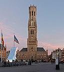 Brugge, de Belfort-Hal of Halletoren (oeg29457) op de Markt 3e poging foto2 2015-09-28 19.39