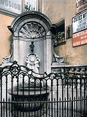 Manneken Pis in 1900
