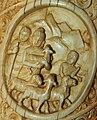 Buddha walks with a shepherd holding a lamb Roundel 29 buddha ivory tusk.jpg