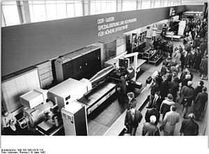 Machine industry - Presentation of machinery industry on a fair in Dresden, 1982.