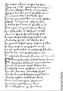 Originalmanuskript eines 1985 in Erfurt entdeckten Gedichts Petrarcas (Quelle: Wikimedia)