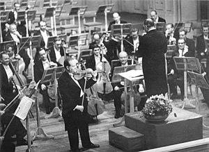 David Oistrakh playing a violin concerto