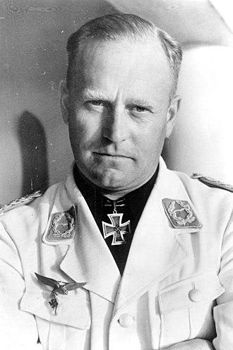 "Heinkel He 277 - Oberst Edgar Petersen, the ""KdE"" commander of the Luftwaffe's test station network."