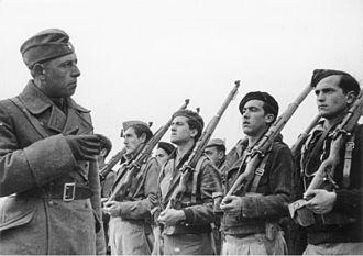 """Condor Legion - """"Condor Legion"""" infantry training school in Ávila, Spain."""