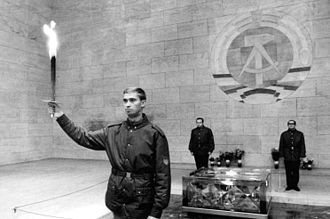 Neue Wache - A prismatically broken eternal flame in the Memorial to the Victims of Fascism and Militarism, 1970.