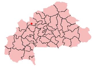Tougan - Location of Tougan in Burkina Faso