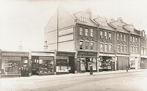 Dollis Hill - Shops at top of Burnley Road c. 1910
