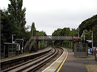 Bursledon railway station - Image: Bursledon railway station