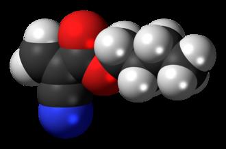 Butyl cyanoacrylate - Image: Butyl cyanoacrylate 3D spacefill