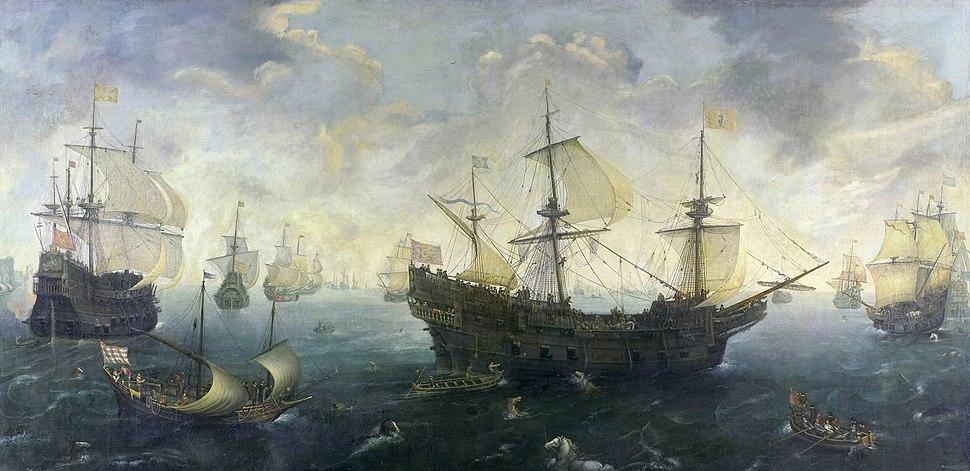 C.C. van Wieringen The Spanish Armada off the English coast