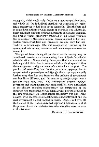 """File:C. Cunningham- """"The Institutional Background of Spanish American History"""" p15.djvu"""