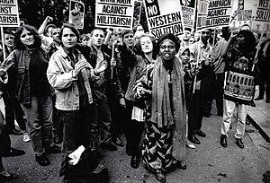 Revolutionary Communist Party (UK, 1978) - Campaign Against Militarism protest, 1994