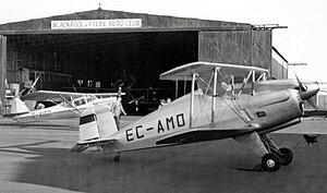 Bücker Bü 133 - CASA-built 1-133C Jungmeister at Blackpool (Squires Gate) Airport in 1957