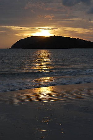 Amazing sunset at Cenang Island, Langkawi. The...