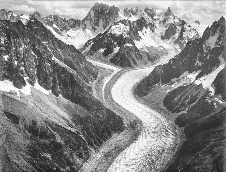 CH-NB - Gletscher Mer de Glace, Mont-Blanc-Gruppe - Eduard Spelterini - EAD-WEHR-32071-B