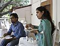CISA2KTTT17 - Pavan Santosh and Dr.Manavpreet Kaur during Lunch 01.jpg