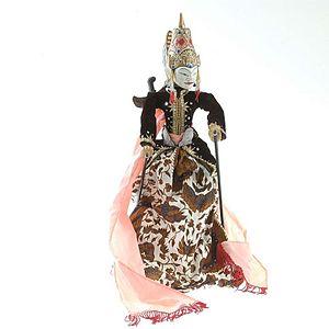 Hamzanama - An Indonesian wayang puppet of Amir Hamzah, also known as Wong Agung Jayeng Rana