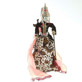 Hamzanama - An Indonesian wayang puppet of Amir Hamzah, also known as Wong Agung Jayeng Rana