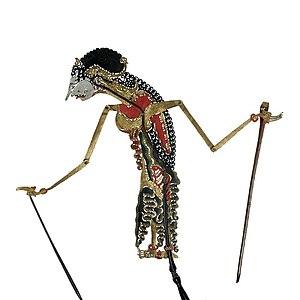 Javanese stick-puppet of Satyavati