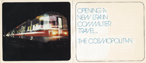 "M2 (railcar) - Cover of publicity booklet provided to commuters when the M2 Cosmopolitan railcars were launched, heralding a ""new era in commuter travel"""