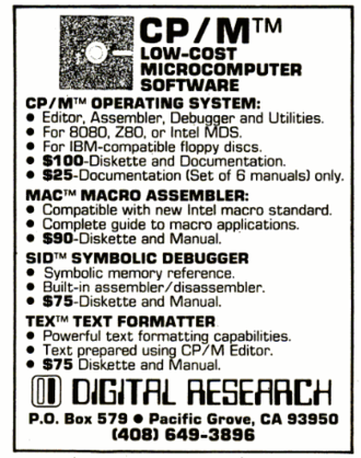 CP/M - CP/M advertisement in the December 11, 1978 issue of InfoWorld magazine