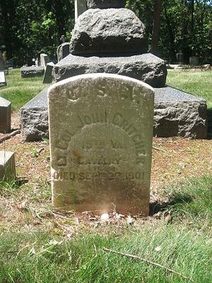 John Critcher - Grave marker of John Critcher