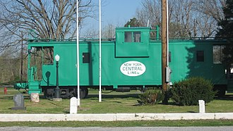 Olmsted, Illinois - Caboose at Olmstead Depot