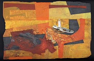 Jeremy Gardiner - Cadmium Sun, Godrevy Lighthouse, Cornwall, by Jeremy Gardiner