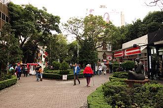 Zona Rosa, Mexico City - Genova Street in Zona Rosa