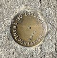 Caltrans survey marker on bridge over CA-17 at Hamilton Avenue.jpg