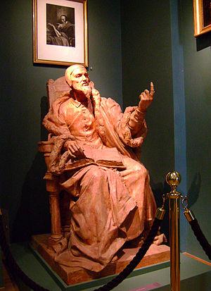 Français : Statue de Jean Calvin par Maurice R...