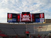 Camp Randall scoreboard at Movie Night 2013