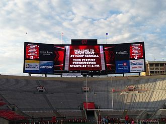 Camp Randall Stadium - Camp Randall scoreboard at Movie Night 2013