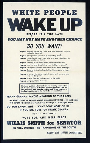 File:Campaign flyer for Willis Smith for Senate in the 1950 US ...