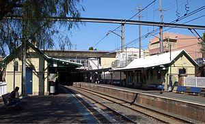 Campsie railway station - Eastbound view from Platform 1 in October 2006