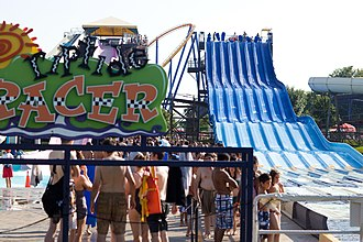 Opened in 1992, Splash Works is an 8-hectare (20-acre) water park located within Canada's Wonderland. Canada's Wonderland (6176923756).jpg