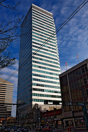 Canadian Western Bank - CWB Headquarters in Edmonton, Alberta, Canada.