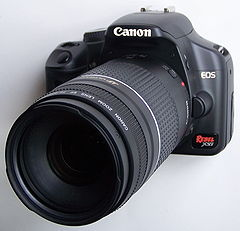 Canon EOS Rebel Xsi with zoom lens.JPG