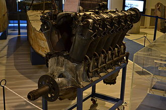 Caproni Ca.60 - One of the eight Liberty L-12 engines of the Transeaereo (the only surviving one) is on display at the Gianni Caproni Museum of Aeronautics in Trento, Italy.