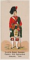 Captain, 42nd Highlanders, England, 1879, from the Military Series (N224) issued by Kinney Tobacco Company to promote Sweet Caporal Cigarettes MET DPB874106.jpg