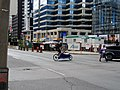 Cargo bike at University and Elm, 2017 08 23 (36717497026).jpg