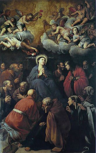 Santa Maria della Scala - Death of the Virgin by Carlo Saraceni.