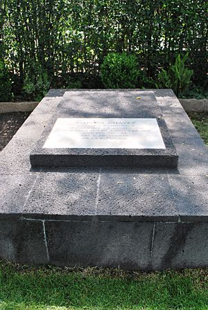 Carlos Chávez - Carlos Chávez's tomb in the Panteón de Dolores, Mexico City